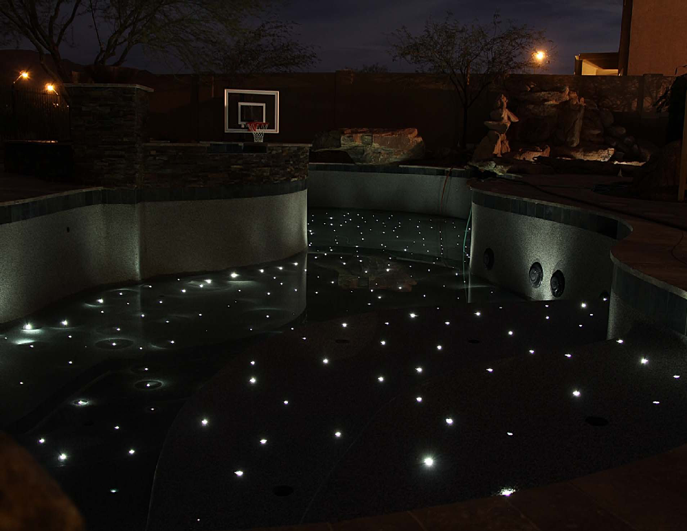 Stars In Floor Pool Empty
